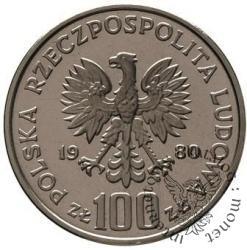 100 złotych - Jan Kochanowski popiersie