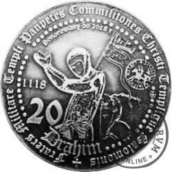 20 drahim / 900. LECIE ZAKONU TEMPLARIUSZY (mosiądz srebrzony)