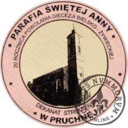 20 Diecezji - PARAFIA ŚWIĘTEJ ANNY W PRUCHNEJ (miedź + rycina - Φ 32 mm)