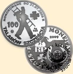 100 talarów szczęścia (Polska Moneta Szczęścia - Ag.925)