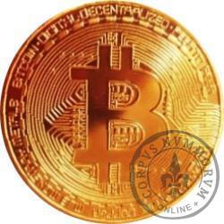 Bitcoin BTC - miedź pozłacana bez tampondruku