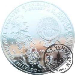 10 areostatów / PIERWSZY W POLSCE ZAŁOGOWY LOT BALONU (mosiądz srebrzony lustro)