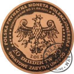 20 dziedzictw (BLIZNE - 2003 UNESCO) / WZORZEC PRODUKCYJNY DLA MONETY (miedź patynowana)