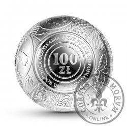 100 złotych - 100. rocznica odzyskania przez Polskę niepodległości - srebrna kula