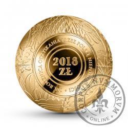 2018 złotych - 100. rocznica odzyskania przez Polskę niepodległości - złota kula