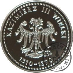 SYMBOLE NARODOWE POLSKI - HISTORIA GODŁA POLSKIEGO / Orzeł Kazimierza III Wielkiego (Ag - II emisja)