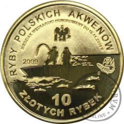 10 złotych rybek (mosiądz) - II emisja / PSTRĄG st. lustrzany normalny