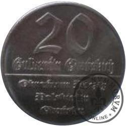 20 guldenów gdańskich (Ag - próba)