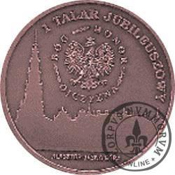 1 talar jubileuszowy - 300-lecie Koronacji Obrazu Matki Bożej Częstochowskiej / Nałożenie Nowych Koron (miedź oksydowana)