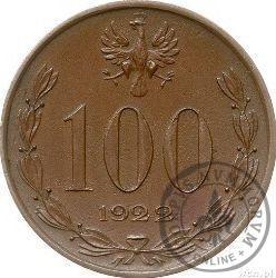100 (bez nazwy) - Józef Piłsudski - miedź