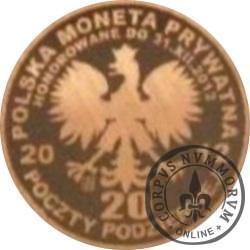 20 poczty podziemnej (POCZTA OBOZOWA SOLIDARNOŚĆ) / WZORZEC PRODUKCYJNY DLA MONETY (wzór IV - generał Kazimierz Sosnkowski / miedź patynowana)