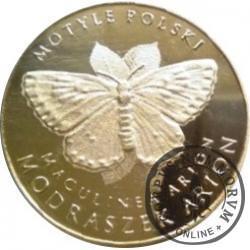 10 motylków / Modraszek arion (XIV emisja - mosiądz)