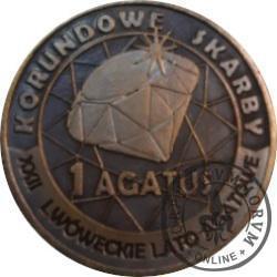 1 agatus 2019 / XXII Lwóweckie Lato Agatowe (mosiądz oksydowany - XI emisja)