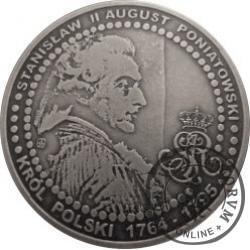 1 cuprum / Mennica Warszawska 1766 (MEDAL OKOLICZNOŚCIOWY) - miedź srebrzona oksydowana