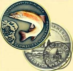 10 złotych rybek (mosiądz patynowany + tampondruk) -  VIII emisja / GŁOWACICA