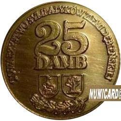 25 damb (mosiądz lakierowany z bursztynem)