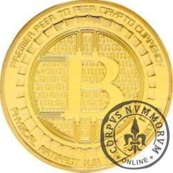 Bitcoin BTC ANONYMOUS MINT (miedź pozłacana)