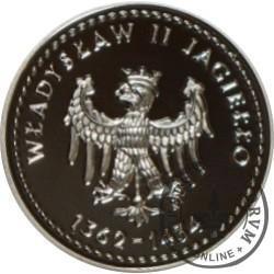 SYMBOLE NARODOWE POLSKI - HISTORIA GODŁA POLSKIEGO / Orzeł Władysława II Jagiełły (Ag - II emisja)