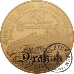 50 drahim / 900. LECIE ZAKONU TEMPLARIUSZY (mosiądz - lustro)