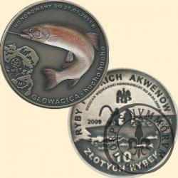 10 złotych rybek (alpaka oksydowana + tampondruk) -  VIII emisja / GŁOWACICA