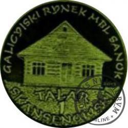 1 talar skansenowski - Galicyjski rynek (mosiądz oksydowany)