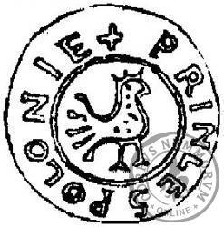 Replika denara princes polonie - mosiądz