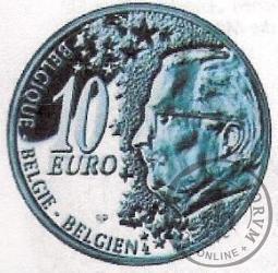 10 euro - 50 klat połączenia kolejowego Dworzec Pn. - Dworzec Pd. w Brukseli
