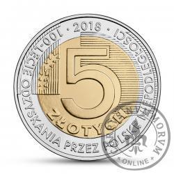 5 złotych - 100-lecie odzyskania przez Polskę niepodległości