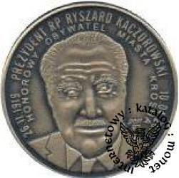 1 talar franciszkański (mosiądz oksydowany - prezydent Kaczorowski)