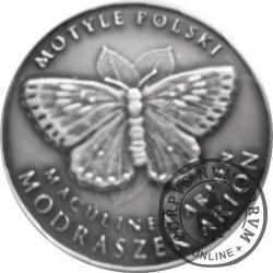 10 motylków / Modraszek arion (XIV emisja - alpaka oksydowana)