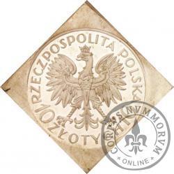 10 złotych - Romuald Traugutt - klipa romb st. L