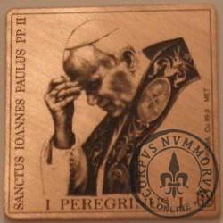 1 peregrinus / JAN PAWEŁ II - KLIPA - WZORZEC PRODUKCYJNY DLA MONETY (miedź patynowana - typ IV)
