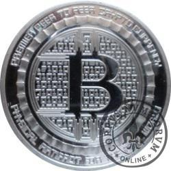 Bitcoin BTC ANONYMOUS MINT (miedź srebrzona)
