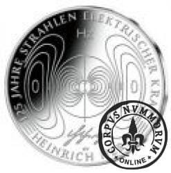 10 euro -  125 lecie odkrycia promieni energii elektrycznej - Heinrich Hertz