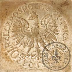 10 złotych - Romuald Traugutt - klipa kwadrat