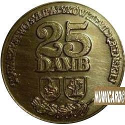 25 damb (mosiądz oksydowany i lakierowany z bursztynem)