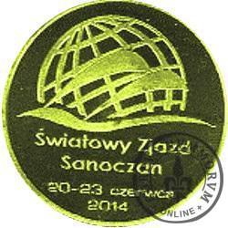 1 talar sanocki - ŚWIATOWY ZJAZD SANOCZAN 20-23 CZERWCA 2014 (XI emisja - śr. 32 mm)