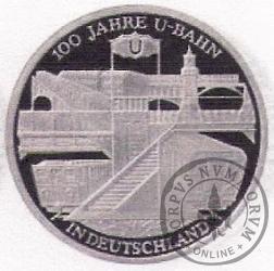 10 euro -  100 lat niemieckiego metra