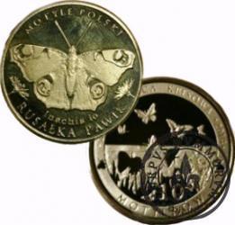 10 motylków / Rusałka pawik (IV emisja - mosiądz)