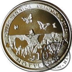10 motylków / Mieniak tęczowiec (VI emisja - alpaka)