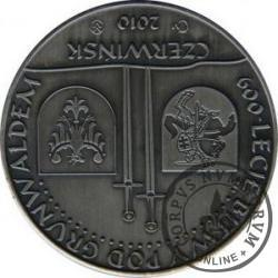 40 kwartników czerwińskich - 600 LECIE BITWY POD GRUNWALDEM (brąz srebrzony oksydowany - st. odwrócony)