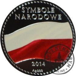 SYMBOLE NARODOWE POLSKI - HISTORIA GODŁA POLSKIEGO / Orzeł Rzeczpospolitej Polskiej (Ag - II emisja)