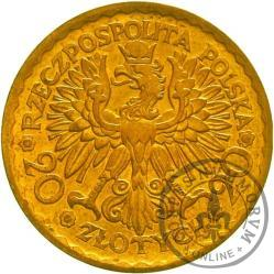 20 złotych - Chrobry - Au, bok gładki
