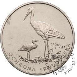 100 złotych - bociany