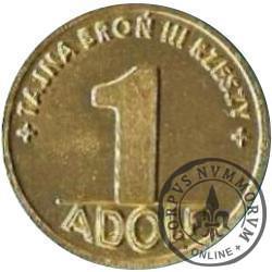 1 adolf (I emisja - mosiądz)
