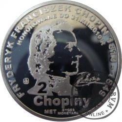 2 chopiny / Fryderyk Chopin (aluminium)