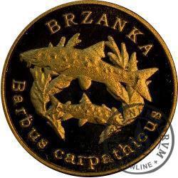 10 złotych rybek (mosiądz patynowany) - LIII emisja / BRZANKA