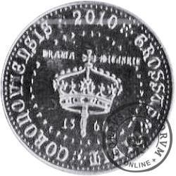 1 grosz koronowski (mosiądz posrebrzany)