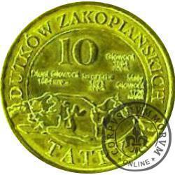 10 dutków zakopiańskich - Szarotka alpejska (IV emisja - bimetal pozłacany)