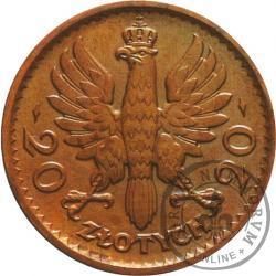 20 złotych - Polonia (głowa kobiety) - brąz